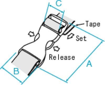 画像1: TDSR50H-02 黒 サイドリリース(両引き)
