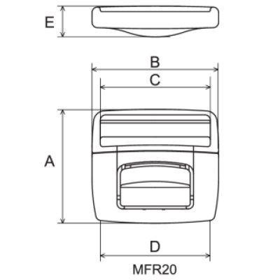 画像1: MFR10-02 黒 100個≪1袋≫ フロントリリース