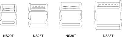 画像3: NS38T-02 黒  サイドリリース
