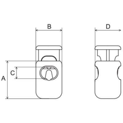 画像1: CL12-02 黒 100個≪1袋≫