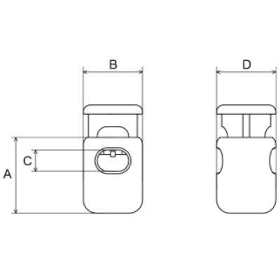 画像1: CL2-02 黒 100個≪1袋≫