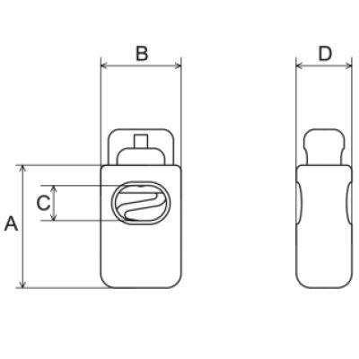 画像1: CL5-02 黒 100個≪1袋≫