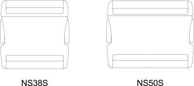 画像2: NS38S-02 黒〈100個入/1袋〉サイドリリース