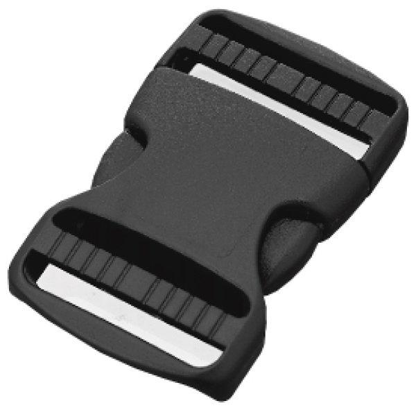 画像1: TDSR-25S 黒 100個≪1袋≫ サイドリリース(両引き) (1)
